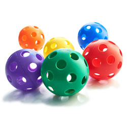 Multiple Color Wiffle Softballs