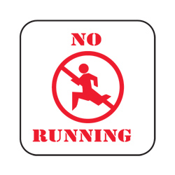 No Running Sign (EA)