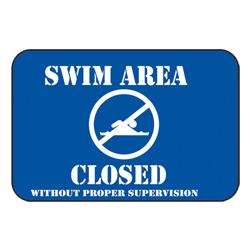 Swim Area Closed Sign (EA)