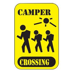 Camper Crossing Sign (EA)