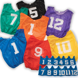 Lightweight Numbered Scrimmage Vest-Adult (DZN) - Kelly