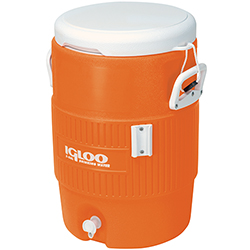 Igloo 5 Gallon Orange Cooler w/Seat Lid 1376916