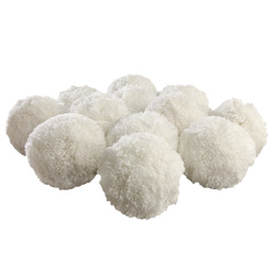 "White 4"" Fleece Balls 1343052"