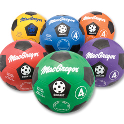 MacGregor Rubber Soccerballs Size 4 - Yellow
