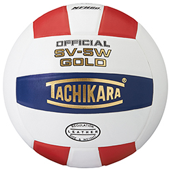 SV-5W Red/White/Blue Leather Volleyball (EA)