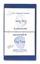 Glovers Baseball/Softball Score Sheets (PAC)